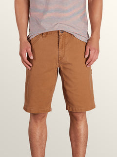 Whaler Utility Shorts In Camel, Front View