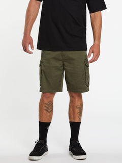 Bevel Cargo Shorts - Military (A0931902_MIL) [1]