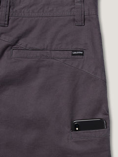 Frickin Down-low Shorts W/ Cell Phone Pocket In Charcoal Grey, Second Alternate View