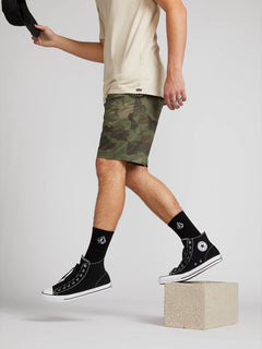 Frickin Down-low Shorts W/ Cell Phone Pocket In Camouflage, Alternate View