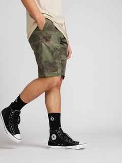 Frickin Down-low Shorts W/ Cell Phone Pocket In Camouflage, Back View