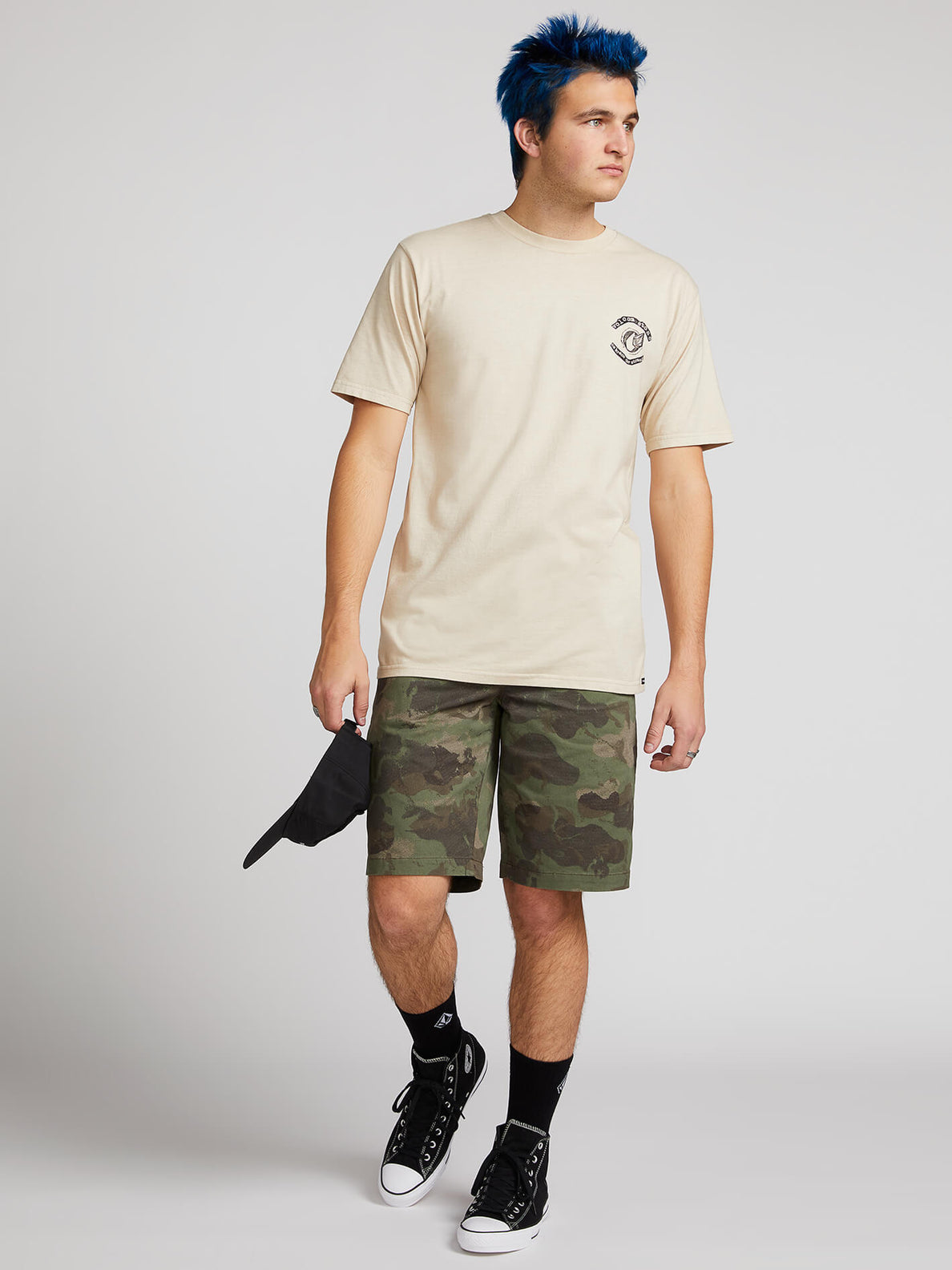 Frickin Down-low Shorts W/ Cell Phone Pocket In Camouflage, Front View