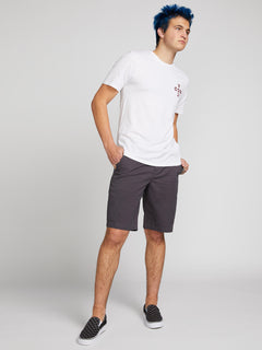 Frickin Down-low Shorts W/ Cell Phone Pocket In Charcoal Grey, Front View