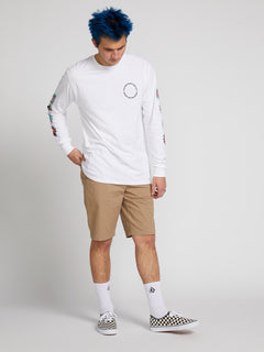 Frickin Down-low Shorts W/ Cell Phone Pocket In Khaki, Front View