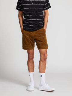 Subscale Cord Elastic Waist Shorts