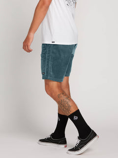 Subscale Cord Elastic Waist Shorts In Sea Navy, Alternate View
