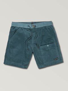 Subscale Cord Elastic Waist Shorts (A1021901_SNV) [5]