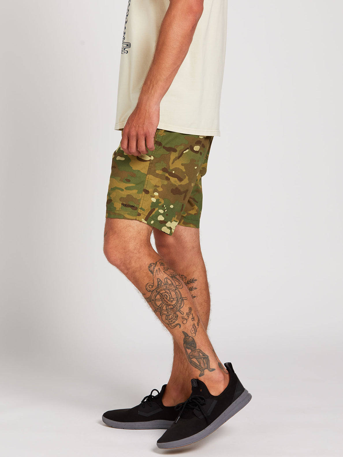 Side Piece Ew Shorts - Camouflage (A1022000_CAM) [3]