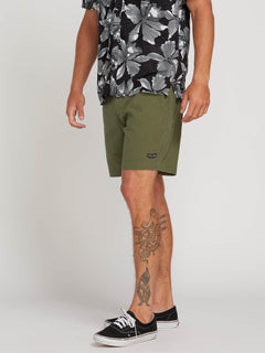 Hazed Shorts In Army, Alternate View