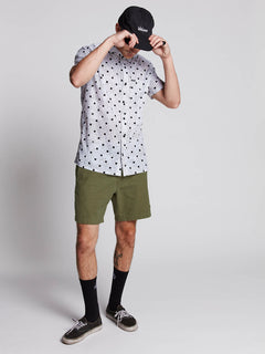 Hazed Shorts In Army, Second Alternate View