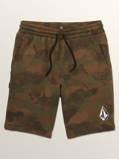Deadly Stones Fleece Shorts In Camouflage, Third Alternate View