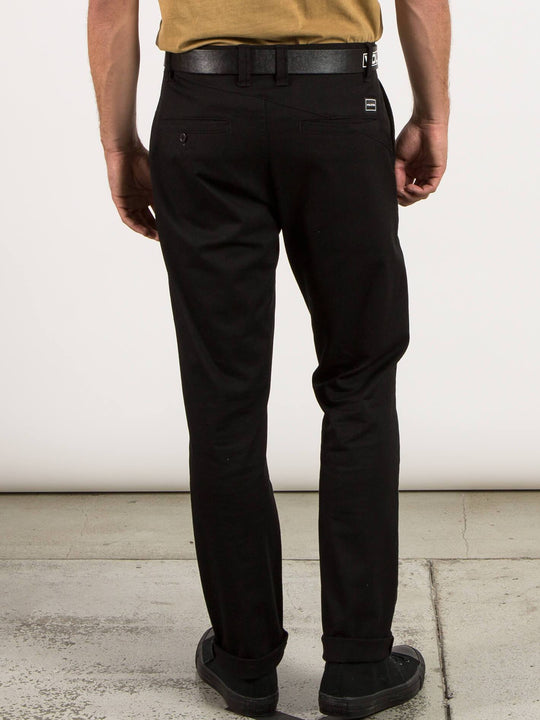 Frickin Modern Stretch Chino Pants In Black, Back View