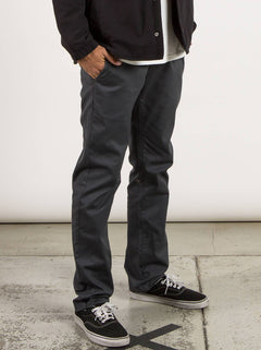 Frickin Modern Stretch Chino Pants In Charcoal Grey, Alternate View