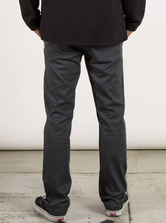 Frickin Modern Stretch Chino Pants In Charcoal Grey, Back View