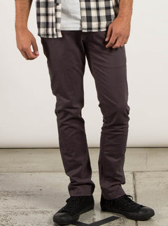Frickin Slim Chino Pants In Asphalt Black, Front View