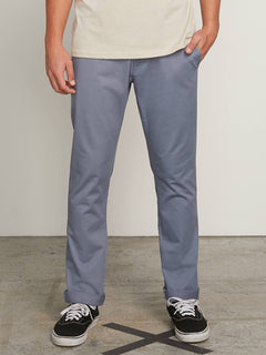 Frickin Slim Chino Pants In Ash Blue, Front View