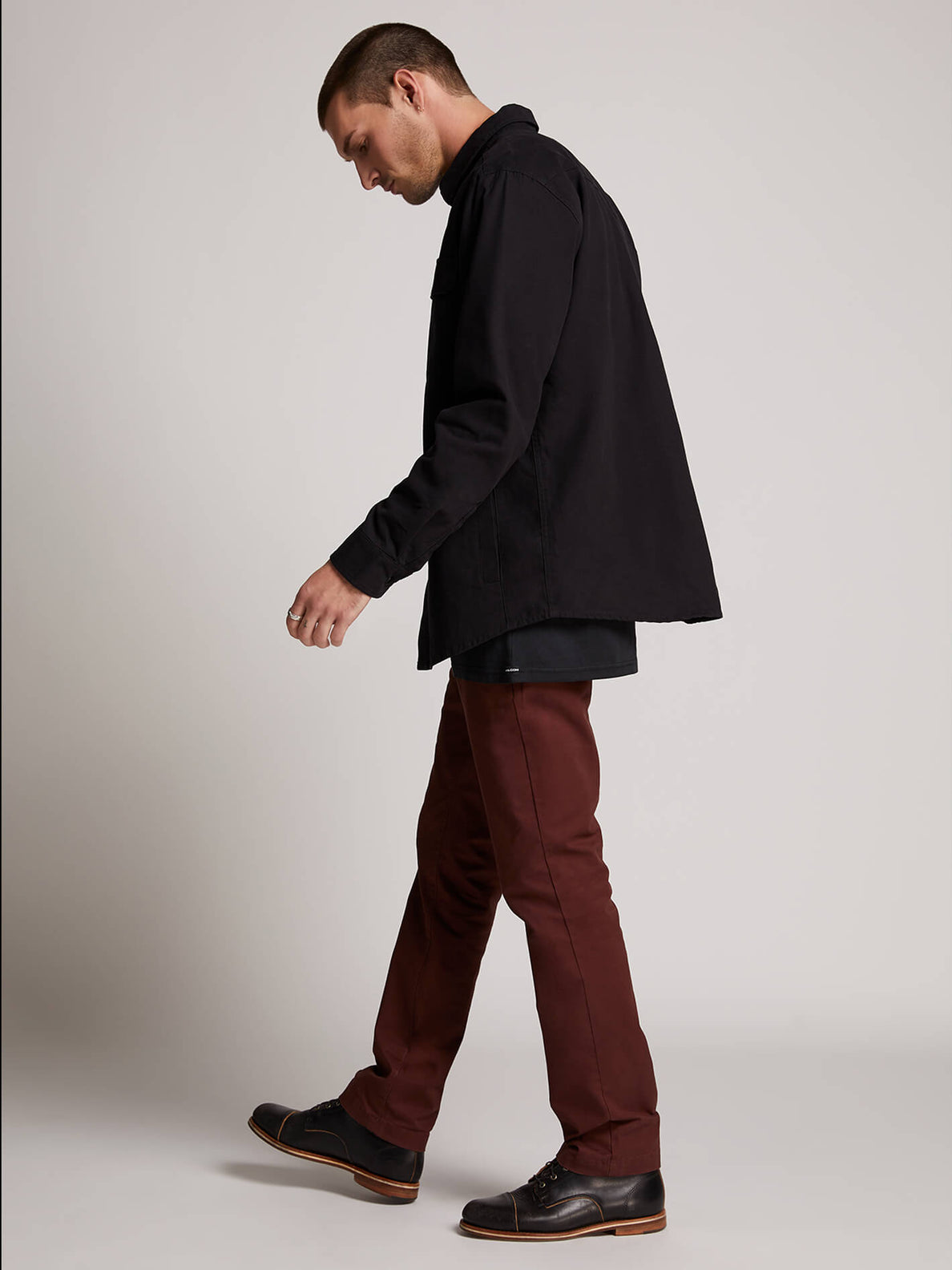 Frickin Slim Chino Pants In Bordeaux Brown, Second Alternate View