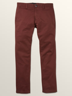Frickin Slim Chino Pants In Bordeaux Brown, Third Alternate View