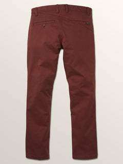 Frickin Slim Chino Pants In Bordeaux Brown, Fourth Alternate View