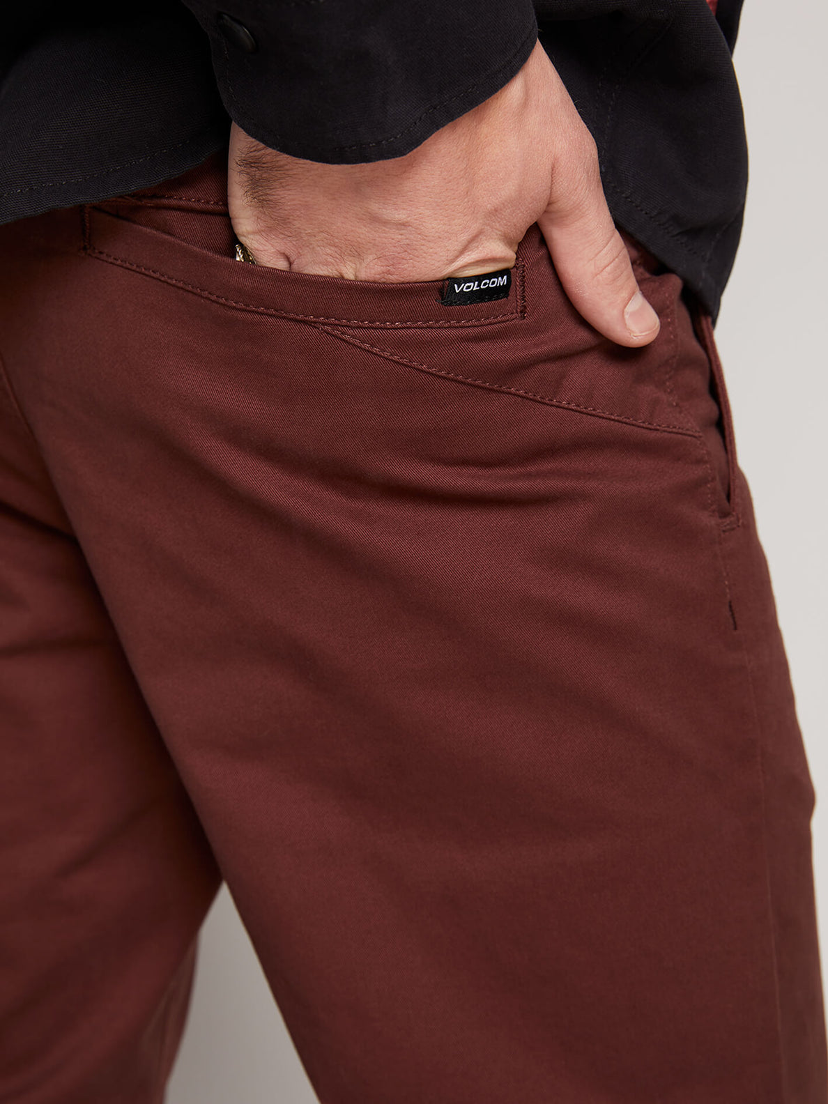 Frickin Slim Chino Pants In Bordeaux Brown, Fifth Alternate View
