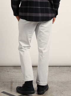 Frickin Slim Chino Pants In Off White, Back View