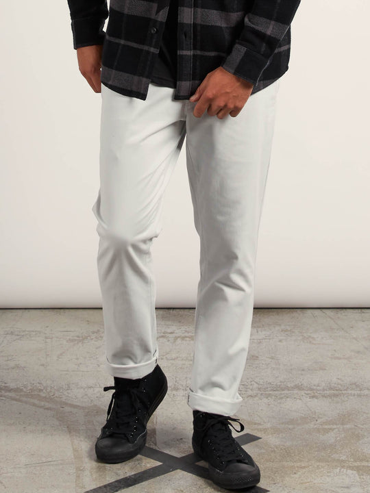 Frickin Slim Chino Pants In Off White, Front View
