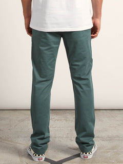 Frickin Slim Chino Pants In Pine, Back View