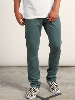 Frickin Slim Chino Pants In Pine, Front View