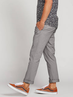 Frickin Slim Chino Pants In Silver, Alternate View