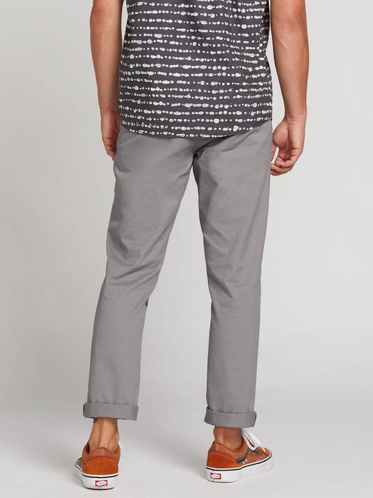 Frickin Slim Chino Pants In Silver, Back View