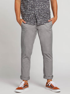 Frickin Slim Chino Pants In Silver, Front View