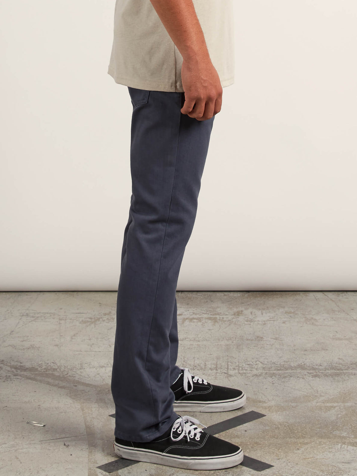 Vorta 5 Pocket Slub Slim Fit Jeans In Midnight Blue, Alternate View
