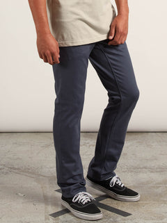 Vorta 5 Pocket Slub Slim Fit Jeans In Midnight Blue, Second Alternate View