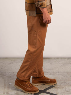 Vsm Whaler Regular Pants In Camel, Alternate View