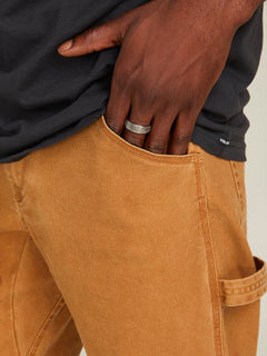 Vsm Whaler Regular Pants In Camel, Second Alternate View