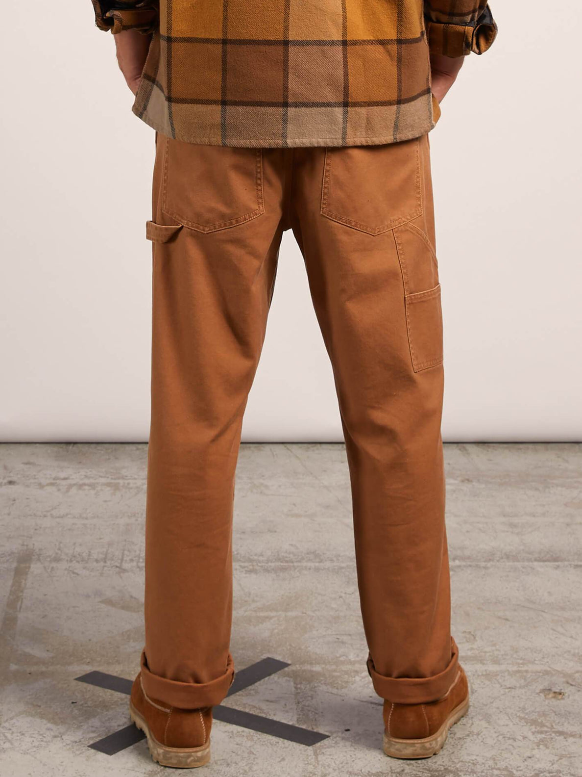 Vsm Whaler Regular Pants In Camel, Back View