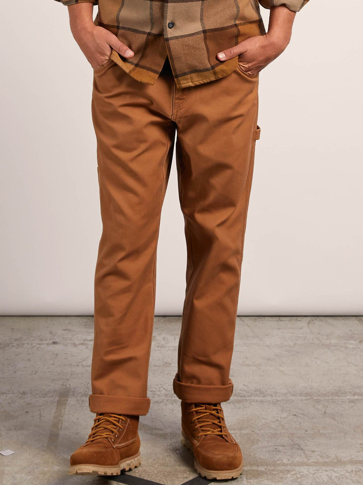 Vsm Whaler Regular Pants In Camel, Front View