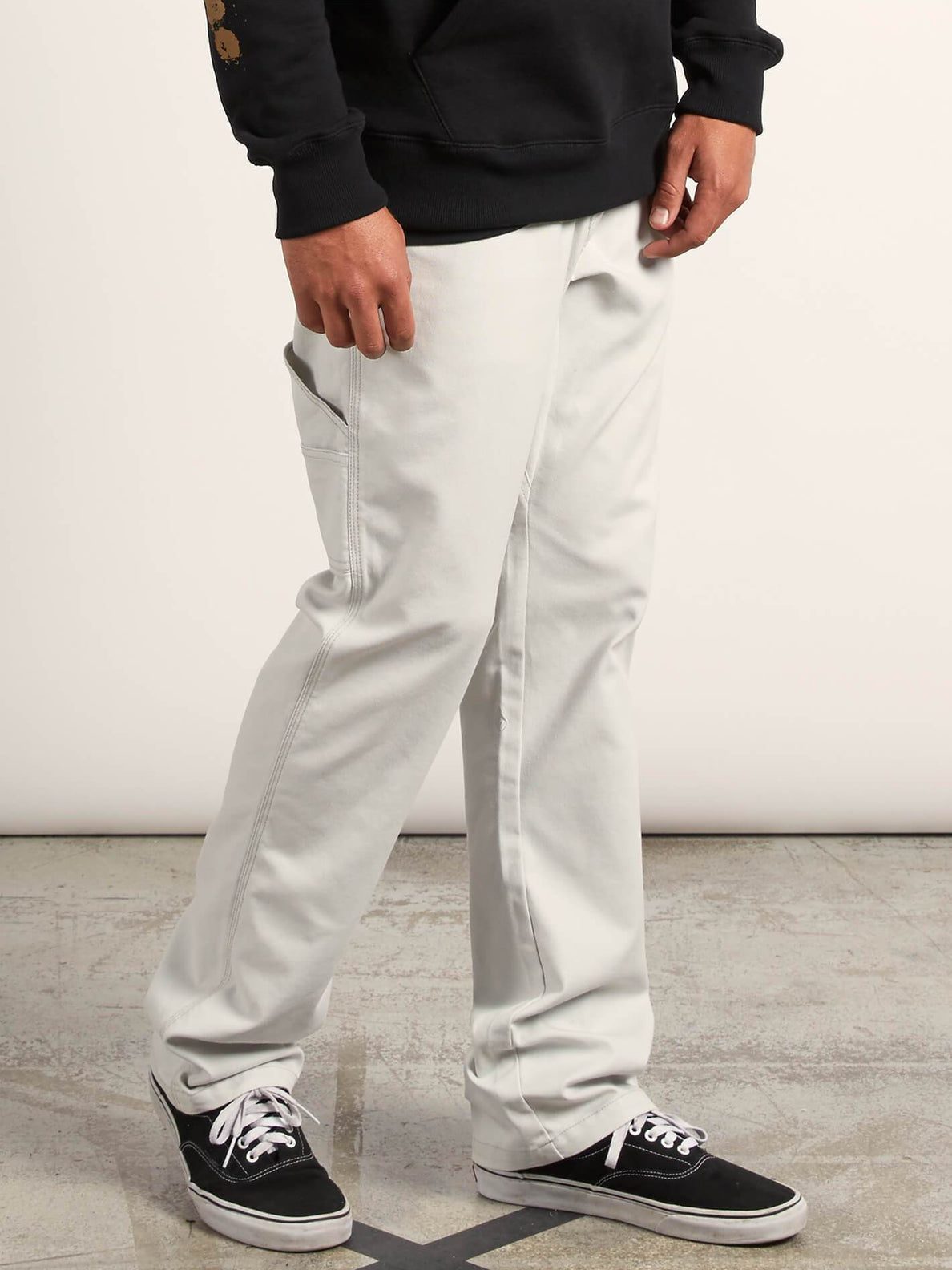 Vsm Whaler Regular Pants In Off White, Alternate View