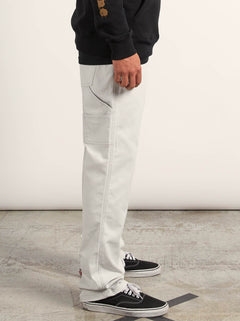 Vsm Whaler Regular Pants In Off White, Second Alternate View