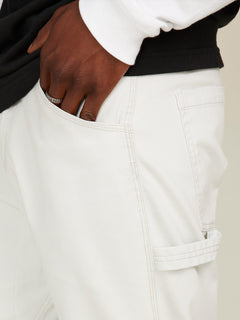 Vsm Whaler Regular Pants In Off White, Third Alternate View