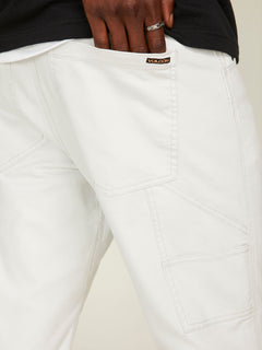 Vsm Whaler Regular Pants In Off White, Fourth Alternate View