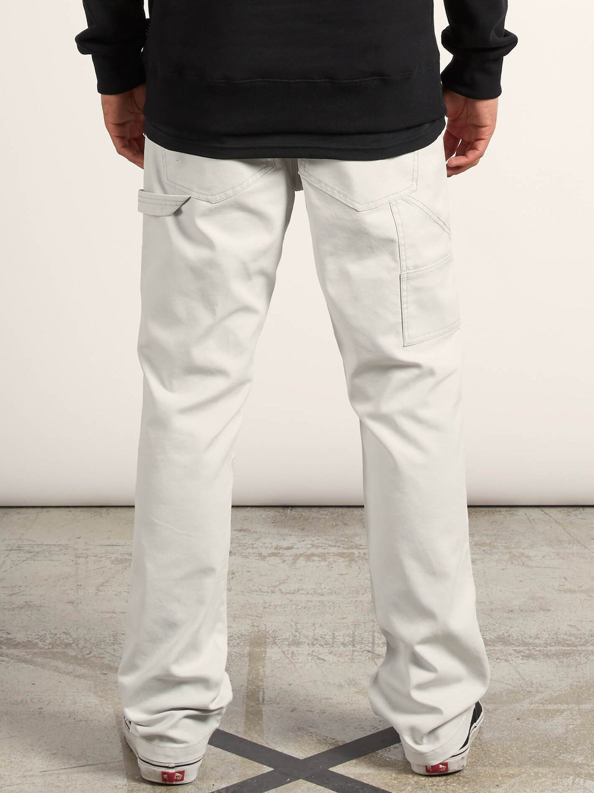 Vsm Whaler Regular Pants In Off White, Back View