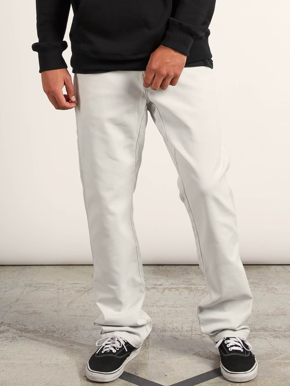 Vsm Whaler Regular Pants In Off White, Front View