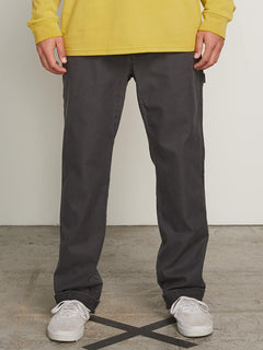 Vsm Whaler Regular Pants In Vintage Black, Front View