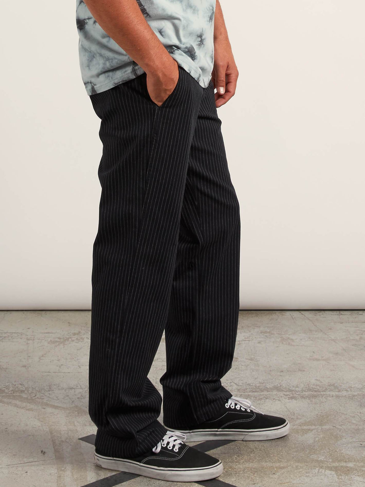 Noa Noise Chino Pants In Black, Alternate View