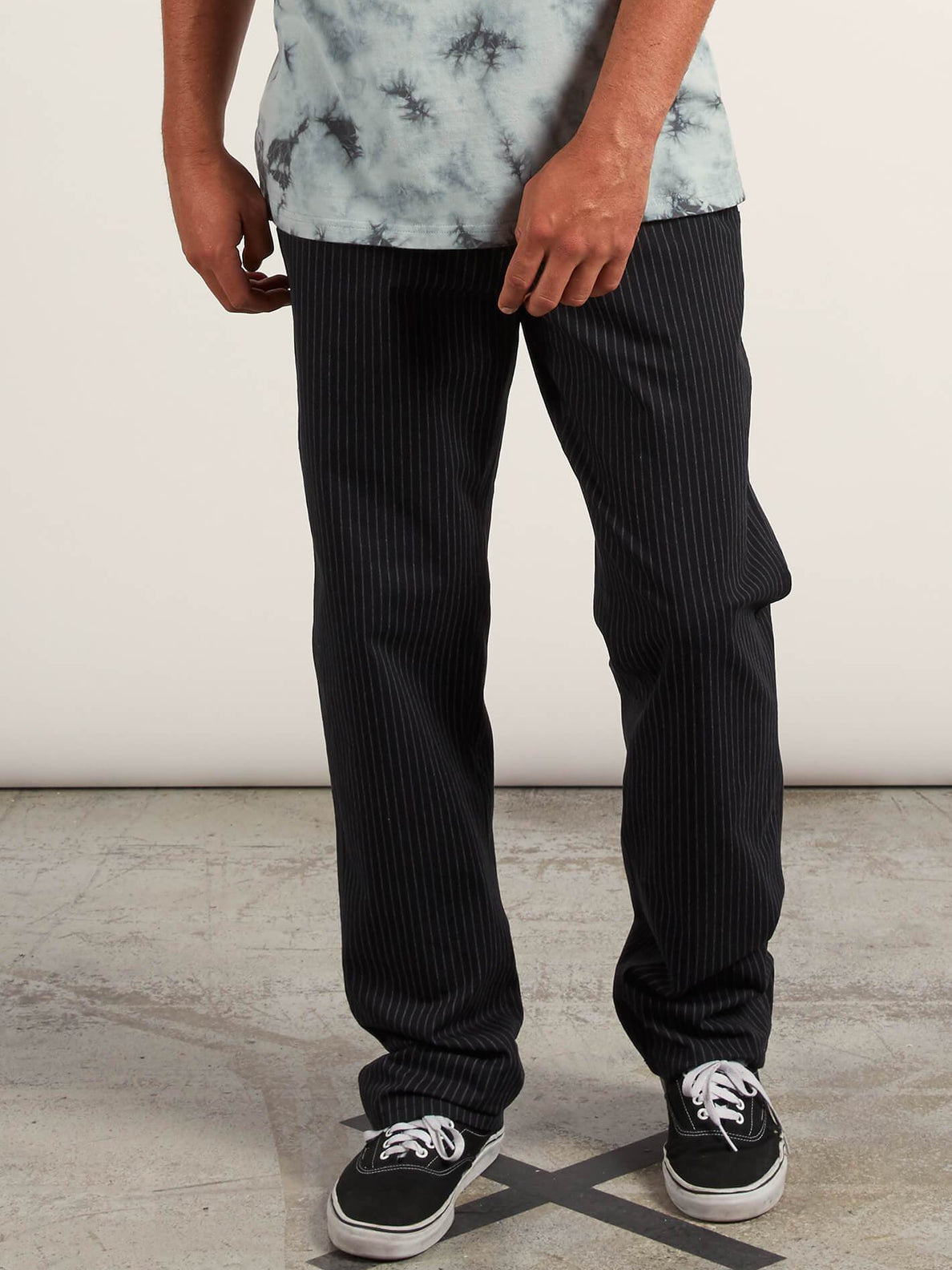 Noa Noise Chino Pants In Black, Front View