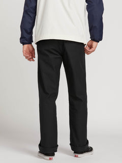 Vsm Gritter Plus Chino Pants In Black, Back View
