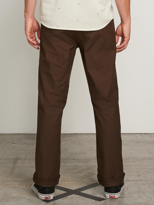 Vsm Gritter Plus Chino Pants In Espresso, Back View