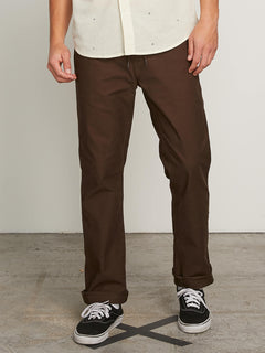 Vsm Gritter Plus Chino Pants In Espresso, Front View