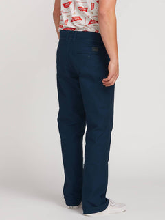 Vsm Gritter Plus Chino Pants In Indigo, Back View